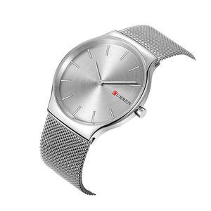 CURREN oro rosa negro puntero del relogio masculino famoso Suntuoso Clástico analógica se divierte el reloj de cuarzo reloj de los hombres de negocios 8256