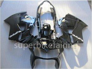 Juego de carenado de motocicleta para HONDA VFR800 98 99 00 01 VFR 800 1998 1999 2000 2001 2001 ABS Juego de carenados negro + 3 regalos VB04