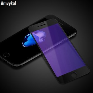 3D Curved Full Cover Soft Edge Tempered Glass Screen Protector For iphone 11 XR XS Max 6s 7 8 Plus Anti-Blue Purple Glass