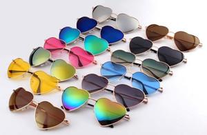 Gafas de sol en forma de corazón MUJERES de metal LENES reflectantes Sol de moda VIDRIOS hombres y mujeres Espejo de gafas de sol NUEVO para regalos de fiesta
