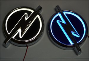 Hochwertige 5D Auto führte Emblem Auto-LED-Abzeichen Auto-LED-Symbole Logo für Opel Größe 133x101mm
