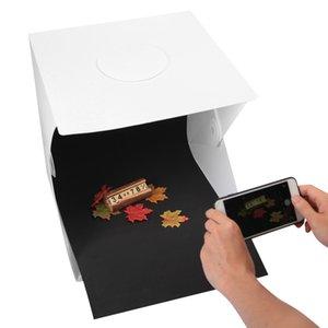 Freeshipping 40x40cm Shooting Foldable Mini Desktop Photo Studio Video Caja de iluminación Tienda de fotografía con luz LED SMD