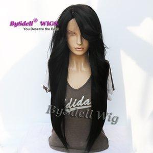 Célébrité Nicki Minaj Super Longue Lâche Curl Coiffure Perruque Yaki Synthétique Cheveux Avant de Lacet Perruques pour Dame Regardant Naturellement
