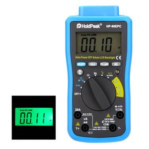 Freeshipping Auto Range Multimetro digitale DMM Cap.HZ Misuratore di temperatura Tester batteria w / USB PC-Link LCD retroilluminazione automatica