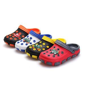 Дети летние сандалии тапочки Девочка Мальчик дети мультфильм Лягушка Сабо мулы обувь носить нескользящей детские сандалии сад Дом обуви