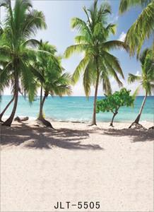 Seaside Beach Beach imprime telones de fondo de fondos de tela de vinilo telones de fondo photocall para boda de niños bebé para estudio fotográfico