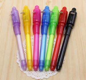 Invisible Ink Pen School Office Drawing Magic Highlighters 2 in 1 UV Black Light Combo Creative Stationery Random Color