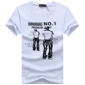 New Summer Cotton Mens T Shirts Fashion Short-sleeve Printed Male Tops Tees Skate Brand Hip Hop Sport Clothes