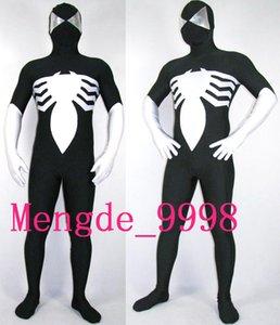 Unisex Siyah / Beyaz Örümcek Adam Suit Lycra Spandex Örümcek Adam Kahraman Catsuit Kostümleri Kıyafet Unisex Fantezi Örümcek Suit Cadılar Bayramı Cosplay Suit M127