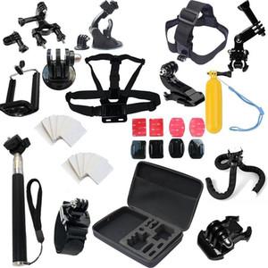 XIAOMI YI 4K를위한 GoPro Hero 5 3 4 세션 + 삼각대 카메라 가방 스트랩을위한 Freeshipping 액세서리 세트