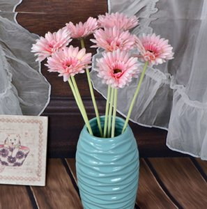 Yeni Tasarım Çiçek Yapay Ipek Çiçek Kat Dekor Düğün Parti Malzemeleri için Dekoratif Krizantem Calliopsi Vazo Şişe Vazo