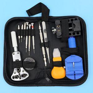 Ferramenta de reparo de relojoeiro Melhor promoção 13 pcs Kit de ferramentas de reparo de relógio Set Case Opener Link Spring Bar Remover Pinça de alta qualidade