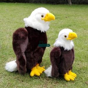 Dorimytrader Nuevo Pop Big Búho de Peluche Juguetes Animales Simples Flying Birds Eagle Eagle Sea Gull Doll Baby Present 30cm 12inches DY61643