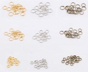 10dozen / lot 200pcs / douzaine or bronze argent DIy bijoux faits main accessoires bijoux Constatations Composants sauts anneaux 8mm livraison gratuite