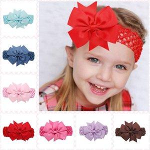 20 Color Baby Big Lace Bow Diademas Niñas Cute Bow Hair Band Infantil Lovely Headwrap Niños Bowknot Accesorios elásticos Cabello de mariposa