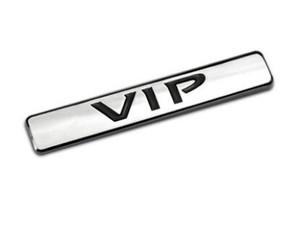 VIP 3D metal coche de lujo Auto Tailgate C Pillar Badge Chrome Gold Logo emblema pegatinas SUV camión para Teana Toyota Car-Styling