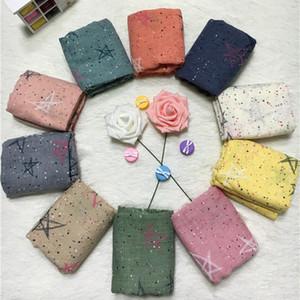 2017 versione coreana del nuovo autunno e inverno sciarpe per bambini stampate stelle e ragazze sciarpa baby baby sciarpa di cotone selvatico