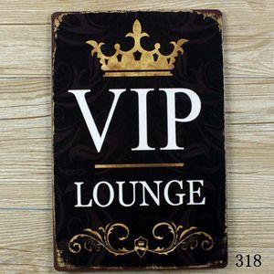 ¡SALA VIP! decoración de la sala de pintura del metal de la muestra del vintage
