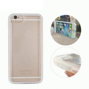 Yeni Şeffaf Anti Yerçekimi Büyülü Nano Yapışkan Adsorbable Telefon Kılıfları Apple iPhone 7 için 6 6 s Artı 5 s SE Lüks TPU Arka kapak