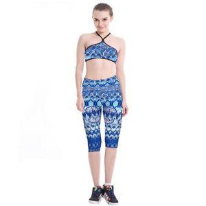 Femmes Yoga Pantalon Collants Sportswear Fitness Imprimer Leggings Femmes Taille Haute Gym Élastique Capri Pantalon