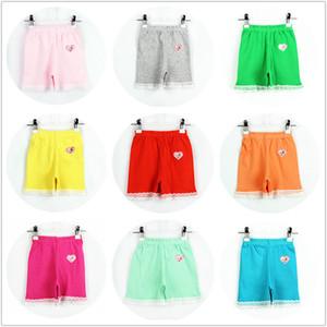 Chicas de moda de verano de algodón leggings cortos de encaje polainas cortas para niñas pantalones de seguridad de encaje pantalones cortos de niña bebé medias