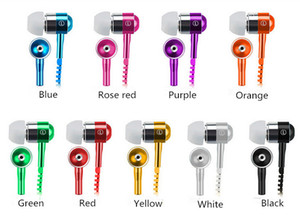 Metallo Zipper Earphone 3.5mm In-Ear Wired Auricolari con microfono Stereo Bass Auricolari per cellulare MP3 / 4 fone de ouvido