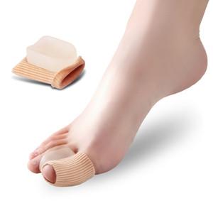 Hallux Valgus Separador Ortesis Dedos Corrector Big Toe Manguito Separador de dedo Pastillas de juanete de silicona Protectores Cuidado de los pies
