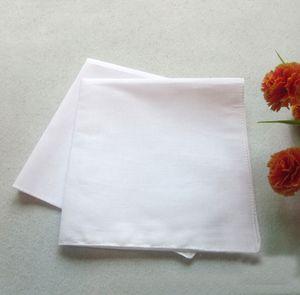 40cm * 40cm carrés Mouchoirs 100% coton HANKERCHIEFS Pure White Femmes Hommes poche mariage ordinaire bricolage Imprimer Tirage HANKERCHIEFS, livraison gratuite