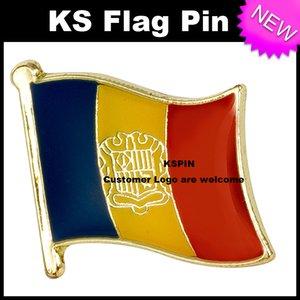 Andorra Flag Badge Flag Pin 10pcs mucho Envío Gratis KS-0014
