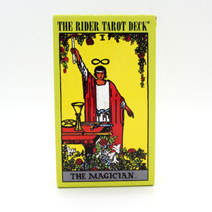 The Rider Tarot Deck Board Juego 78 + 2 PCS / Set New Design Cards Juego English Edition Tarot Juego de mesa para familiares y amigos