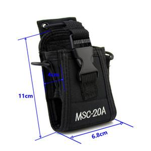 Caso de couro portátil walkie talkie MSC-20A em dois sentidos saco de rádio para BAOFENG UV-5R Caso de nylon walkie talkie UV-82 UV-8D Wouxun