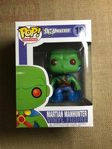 Edición limitada 16 cm Raro Funko Pop Martian Manhunter Funko Games Bobble Head 18 # Pop Dolls Juegos de mesa con nueva caja original
