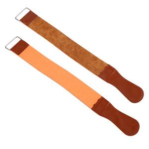 Neue Männer Durable Kuh-Leder-Handbuch Strop Rasiermesser Rasiermesser Schärf Strop Gürtel Barber Razor Male Shaving Werkzeuge