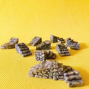 10 Pcs / escaliers / maison de poupée // jardin de fées nain / mousse terrarium décor à la maison / fournitures artisanales / bonsaï / miniatures / décor de table /