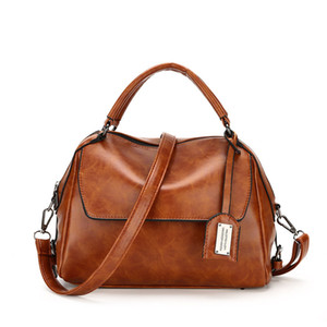 2017 new style brand handbag good quality pu leather tote bag for ladies brown messenger crossbody bags