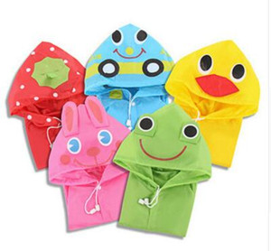Kids children Raincoat Rainwear Rainsuit Kids Waterproof Animal Raincoat poncho Funny Rain Coat