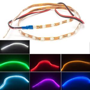 45CM 1210 유연한 소프트 튜브 12V DRL 유니버설 카 유연한 LED 눈 썹 스트립 라이트 램프 바