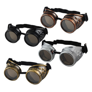 Gros-chaud unisexe Vintage Style victorien Steampunk Lunettes Welding Punk Lunettes Cosplay Lunettes de soleil Hommes Femmes Lunettes Lunettes de