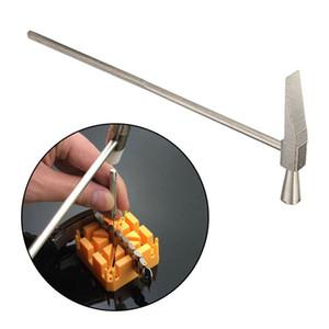 Vendita calda 1PC acciaio cinturino cinturino braccialetto martello piatto / scalpello fine orologiaio riparazione strumento 165mm lunghezza