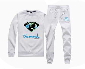 MH935 Heiß-Verkauf Diamond Supply Sweatshirts + Hose Anzug für Männer und Frauen Fleece gefüttert Hip Hop Trainingsanzüge S-5XL