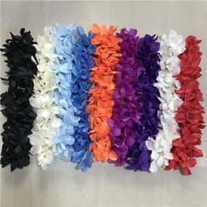 Венки гирлянды Leis Flowers Hawaiian Orange Lot Ожерелье Праздничная вечеринка Искусственные шелковые цветы 100 шт. HULA HNFGM
