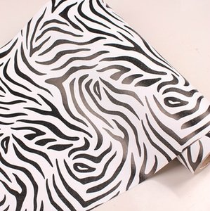Wholesale-10m*45cm kids Pvc wallpaper real child bedroom wall stickers self-adhesive cartoon furniture sticky notes zebra print home decor