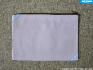 7x10in 일반 자연 / 화이트 / 미색 / 블랙 컬러 코튼 코스메틱 백 12 온스 코튼 캔버스 메이크업 가방, 모조 골드 지퍼 매치 라이닝