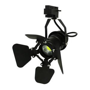 10pcs / pack Led Track light 7w cob rail lámpara LED tienda de ropa iluminación LED Spotlight con tapa ajustable en el frente