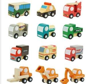 12pcs / lot Legno Piccoli Treni Cartoon Toy 12 Styles bambini giocattoli di legno Treni educativi Amici treni di legno Giocattoli auto con scatola al dettaglio