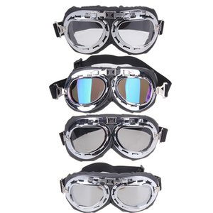 Wholesale- 2017 NEW Vintage style motorcycle gafas motocross moto goggles Scooter Goggle Glasses  Pilot Cruiser
