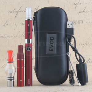 3 in 1 Dry Herb Vaporizer Pen Herbal Vape Cigarette EVOD E-cig Starter Kit With MT3 AGO G5 Wax Glass Globe Dome Atomizers