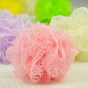 Wholesale- bath ball massageador tubs scrubber Body cleaning Mesh Shower pouf wash Sponge scrubber 3pcs/lot BB07