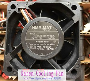 Freies Verschiffen neues ursprüngliches NMB 2410SB-04W-B75 12V 0.26A 60 * 60 * 25MM 6MC 4 Linien für Panasonic-Trommelwaschmaschinelüfter
