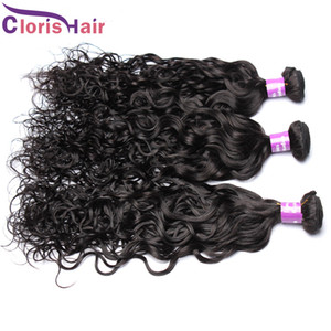 Vague d'eau Weave cheveux 3pc Raw non transformés indiens humides et ondulés Remi Extensions de cheveux Cheap Nautal Wave Bundles Dhgate Vendors